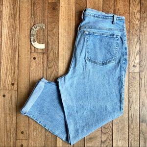 VTG JMS Light Wash High Waist Tapered Mom Jeans